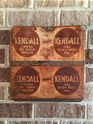 Lot #34/ Vintage Kendall Sign / Gas And Oil / Oil Can  / Flat