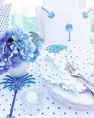 NEW Indigo Spots Napkins -Set of 4