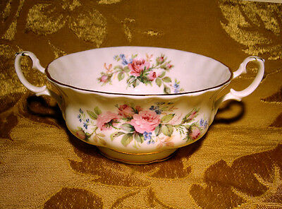 "Vintage Royal Albert ""moss Rose"" Cream Soup Cup Made In England"