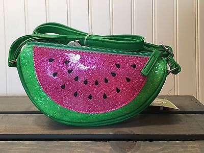 Circo Girls Green Glittery Watermelon Slice Purse Adjustable Strap New