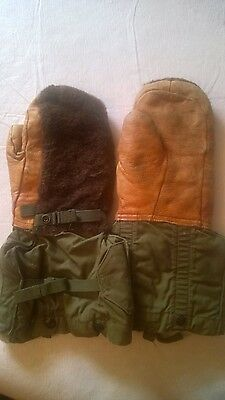 US Military N-4 A Gloves Winter Insulated Vintage Leather Size Medium