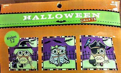 New Halloween Arts & Crafts - Three Patterns of Foam Owls - Package of 12