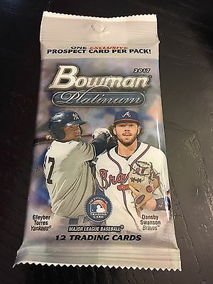 2017 Bowman Platinum Baseball #'d AUTO OR #'d COLORED PARALLEL HOT PACK! New