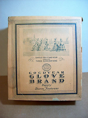 Antique Goodyear India Rubber Co.  Women's Shoe Box