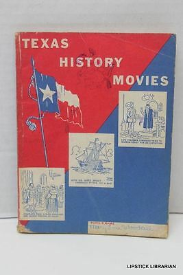 vtg MOBIL OIL Magnolia Petroleum~Texas State History Student Classroom Book 1954
