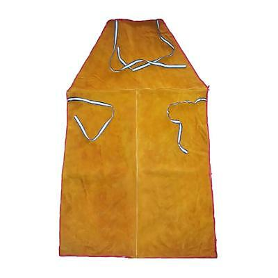 Welder Apron Welding Protect Apparel Cowhide Leather Fire Resistant Orange