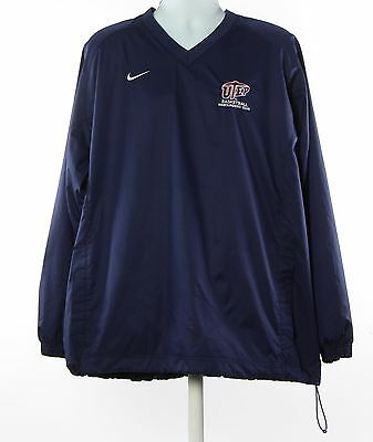 Men's NIKE Blue 100% Polyester Windbreaker Jacket Size XL
