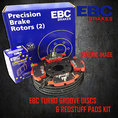 NEW EBC 256mm REAR TURBO GROOVE GD DISCS AND REDSTUFF PADS KIT PD12KR042