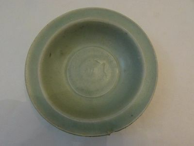 A Beautiful Song Celadon Dish With Concealed Fish Motif