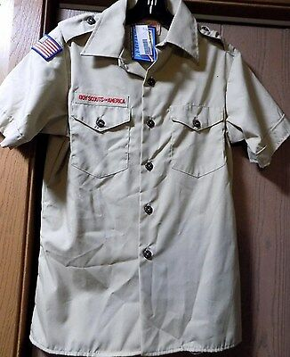 New Boys Scouts Uniform Shirt Youth/Kids size L Large 14/16 NWT