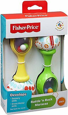 Fisher-Price Rattle and Rock Maracas Musical Toy-FREE SHIPPING-NEW
