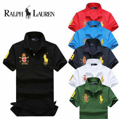2017 hot brand new T-shirt/cotton casual men's polo shirt embroidered big yards澳
