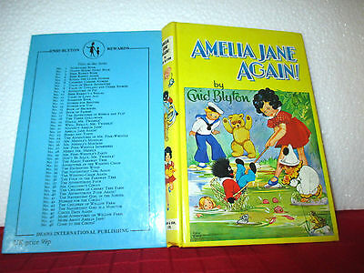 Enid Blyton AMELIA JANE AGAIN 1970 hardcover Rewards series #22 Rene Cloke