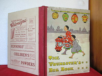 vintage book THE YOUNGSTER'S BIG BOOK OR HOME FRIENDS  c1911 HC illustrated