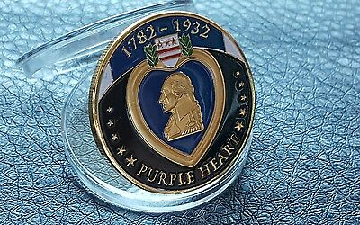 Auction Commemorative Top Quality Purple Heart 1782-1932 Air Medal Coin