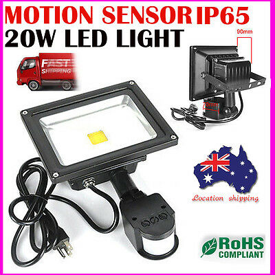 20W 240V LED Flood Light Cool White Work Wall Spot Security Floodlights IP65