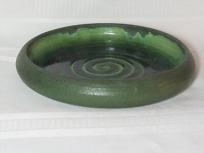 Grueby Pottery, Matte Green Low Bowl Or Bulb Tray, Very Nice~~