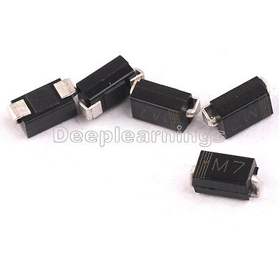 100PCS LL4007 M7 1N4007 DO-214 SMD 1A 1000V Rectifier Diodes