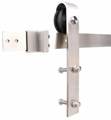 200/244cm Country Interior Stainless Steel Sliding Barn Door Hardware Track Kit