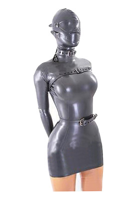 Latex Kleid mit Maske Rubber Dress with hood