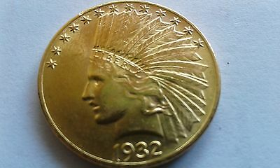 1932 $10 us indian head gold eagle, nice type coin