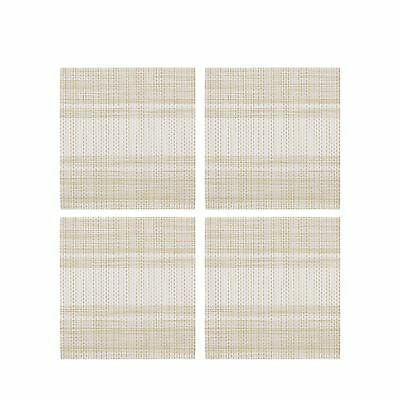 Home Collection Set Of Four Natural Striped Print Coasters From Debenhams