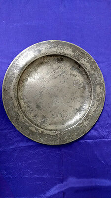 """Early Pewter Plate 13.75"""""""