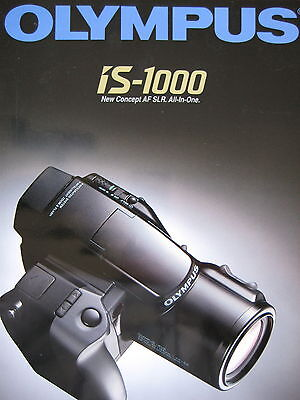 Olympus is-1000 35mm film camera sales brochure - 24 pages