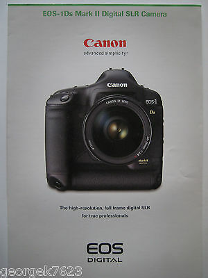 Canon EOS 1Ds Mark 2 digital camera sales brochure - 6 pages