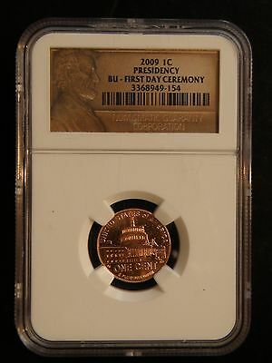 """2009 Lincoln Cent  """" Presidency """"  """" First Day Of Ceremony """"  Ngc"""