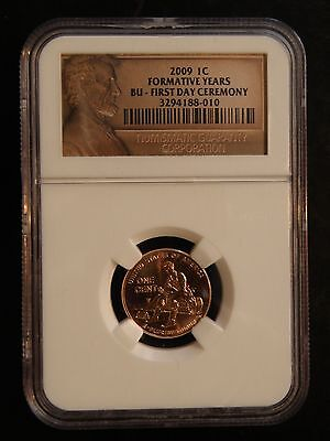 """2009 Lincoln Cent """" Formative Years """"  """" First Day Of Ceremony """"  Ngc"""