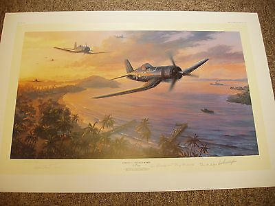 Fighting 17 The Jolly Rogers Nicolas Trudgian P/c Print Signed New