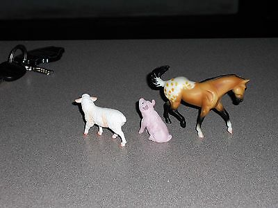 Breyer lot Stablemates- Sheep, pig and Appaloosa horse