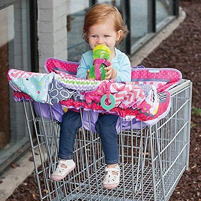 Compact Grocery Cart Cover Toddler Shopping Safety Harness Keep Baby Secure Pink