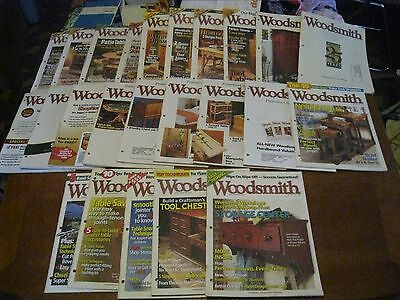Woodsmith magazine Woodworking Projects 24 back issues (139-169) 2002-07 Clean