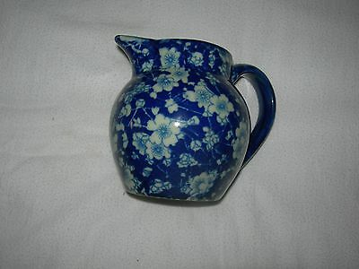Vintage Victoria Ware Pitcher - Ironstone Blue And White Flowers
