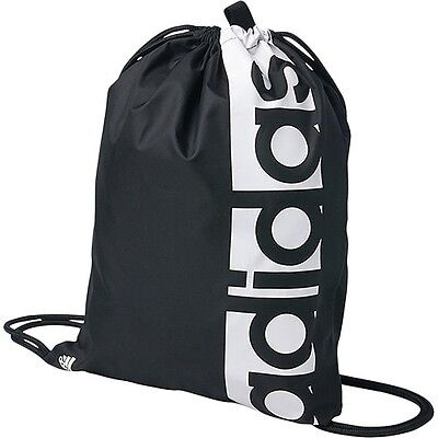 Adidas Linear Performance Gym Bag Sports Sack Training Gymsack Football Black