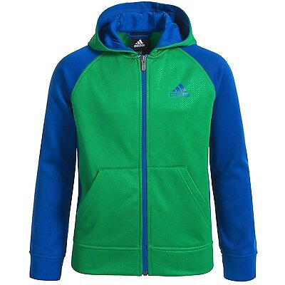adidas ClimaWarm Beezy Youth Boy's Full Zip Fleece Hoodie Jacket size L New