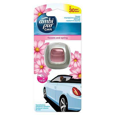 Ambi Pur CAR VENT CLIP ON AIR FRESHENER FLOWERS & SPRING ECONOMY PACK FRESHENERS