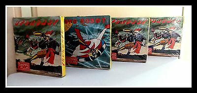 """4 x 1970's JAPANESE """"UFO ROBOT"""" CARTOONS Animation Ahead of its Time -Super 8mm"""