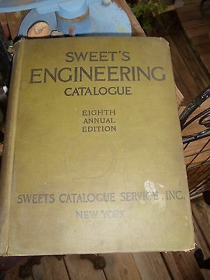 Sweet's 1922 ENGINEERING CATALOG 8 th edition