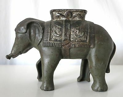 Elephant With Howdah (Small) Vintage Cast Iron Bank, A.c. Williams, No Trunk