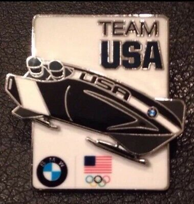 Brand New Official Sochi 2014 Bmw Team Usa Olympic Bobsled Pin.