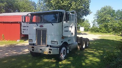 1986 PETERBILT CAB OVER TRUCK TRACTOR {with a big cam 3 cummins engine}