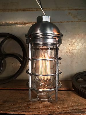 One Vintage-Style Bulb Guard Light Fixture Heavy Gauge Steampunk Explosion Proof