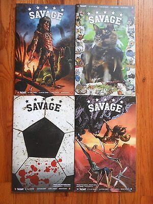 SAVAGE #1,2,3,4 Complete Lot / Set,New Valiant Comic Book Series,Variant Covers
