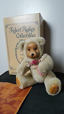 "VNTG Robert Raikes ""Rosie"" 85/1500 Collectible Wooden face Teddy bear"