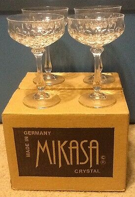 Gorgeous MIKASA Crystal NORMANDY 2 Sets of 4 CORDIAL GLASSES - FREE SHIPPING