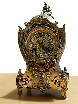BEAUTIFUL ANTIQUE FRENCH BOULLE MANTEL CLOCK c.1880