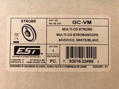 Edwards Signaling GC-VM Multi-CD Strobe 24VDC 15-95MC White